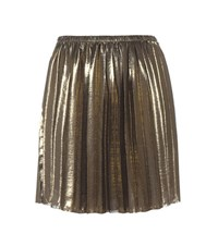 Etoile Isabel Marant Manda Metallic Pleated Skirt Gold