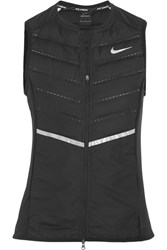 Nike Aeroloft Quilted Shell Down Gilet Black