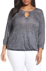 Michael Michael Kors Plus Size Women's Stingray Print Peasant Top