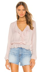 Show Me Your Mumu Brewster Top In Pink. Speckle Dots Pink