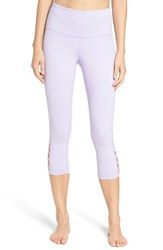 Zella Women's 'Midnight' High Waist Crop Leggings Purple Spray