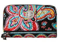 Vera Bradley Turn Lock Wallet Parisian Paisley Wallet Handbags Brown