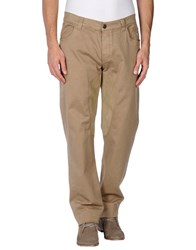 Dog Fox Trousers Casual Trousers Men Beige
