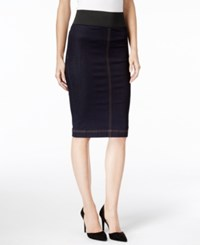 Inc International Concepts Denim Pencil Skirt Only At Macy's Indigo