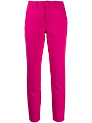 Escada Sport High Rise Cropped Jeans Pink