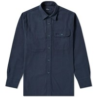 Fred Perry Twill Utility Overshirt Blue