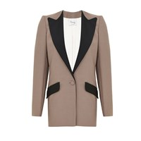 Hebe Studio The Suit Taupe Boyfriend Blazer Neutrals