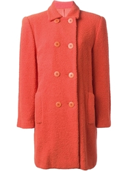 Stephen Sprouse Vintage Double Breasted Coat Yellow And Orange