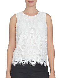Cynthia Steffe Spring Meadow Lace Top New Ivory
