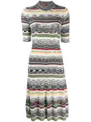 Missoni Ribbed Design Dress Black