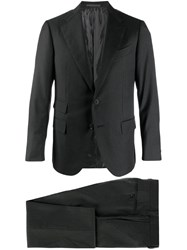 Caruso Two Piece Formal Suit Black