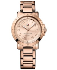 Tommy Hilfiger Women's Rose Gold Tone Stainless Steel Bracelet Watch 38Mm 1781396