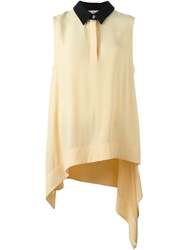 Marni Draped Sleeveless Blouse Yellow And Orange