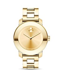 Movado Bold Medium Yellow Gold Plated Stainless Steel Watch 36Mm No Color