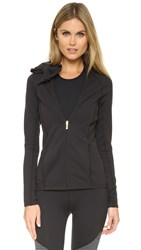 Beyond Yoga Kate Spade Neck Bow Jacket Black
