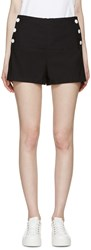 See By Chloe Navy High Rise Shorts
