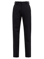 Vetements High Rise Twill Trousers Navy