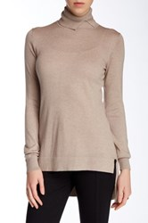 Cullen Hi Lo Turtleneck Sweater Brown