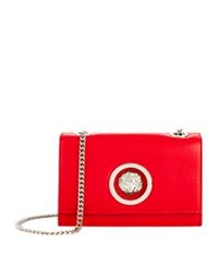 Versus By Versace Mini Flap Chain Calf Shoulder Bag Red