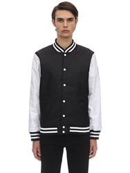 New Era Far East Nylon Varsity Jacket Black