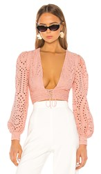 X By Nbd Laila Top In Pink. Beige Pink