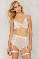 Daydream Nation Cheesecake Mesh Lace Panty White