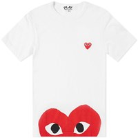 Comme Des Garcons Play Oversized Heart Tee White