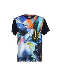 Basso And Brooke Topwear T Shirts Men Dark Blue