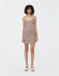 Which We Want Shannon Check Dress Brown