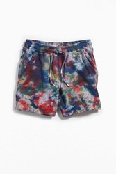 Urban Outfitters Uo Lucian Tie Dye Volley Short Multi