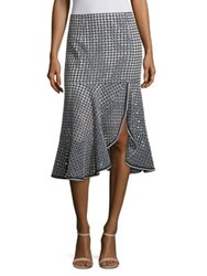 Nanette Lepore Surfside Geometric Print Skirt Chambray
