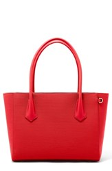 Dagne Dover Signature Legend Coated Canvas Tote Red Poppy
