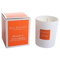 Max Benjamin Scented Candle In Gift Box Mimosa And Sweet Amber 190G