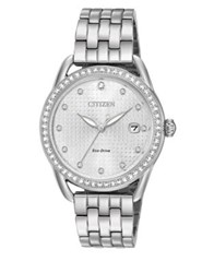 Citizen Drive From Eco Drive Crystal Quartz Stainless Steel Strap Watch Silver