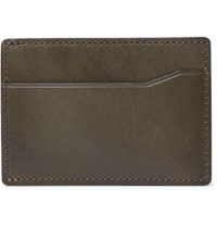 J.Crew Leather Cardholder Army Green