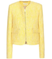 Carven Cotton Blend Jacket Yellow