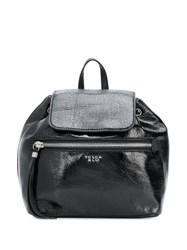 Tosca Blu Textured Backpack Black
