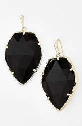 Kendra Scott Women's 'Corley' Faceted Stone Drop Earrings Gold Black Opaque Glass