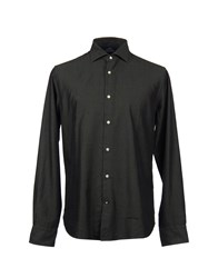 Henry Cotton's Shirts Long Sleeve Shirts Men Dark Green