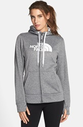 The North Face 'Half Dome' Full Zip Fleece Hoodie Heather Grey Tnf White