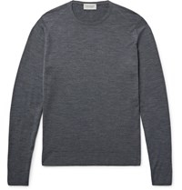 John Smedley Lundy Merino Wool Sweater Charcoal