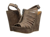 Not Rated Saucin Taupe Women's Wedge Shoes