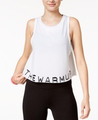 Jessica Simpson The Warm Up Juniors' Graphic Swing Crop Tank Top Only At Macy's Glowing White