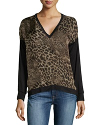 Single Dress Single Cobra Print Sweatshirt Sand