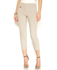 Alfani Petite Tummy Control Pull On Capri Pants Only At Macy's Summer Straw