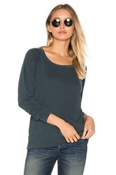 James Perse Classic Raglan Sweatshirt Green