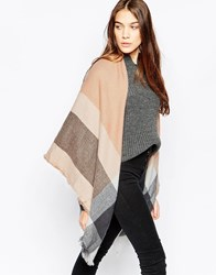 Liquorish Oversized Blanket Wrap Check Scarf Pink