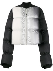 Rick Owens Colour Block Puffer Jacket Black