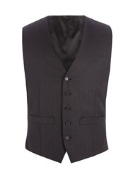 Racing Green Men's Bramley Charcoal Pick And Pick Waistcoat Charcoal