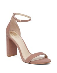 Vince Camuto Mairana Leather Two Strap Dress Sandals Blush